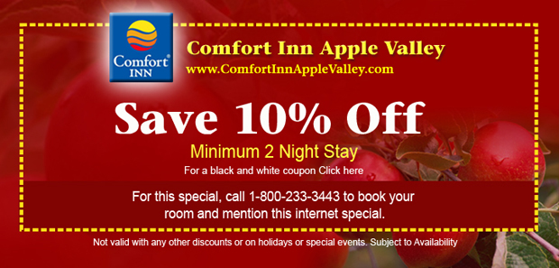 coupons for comfort inn suites